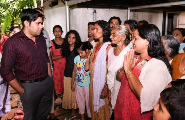 District Collector S.Suhas Visiting Rehabilitation Centre