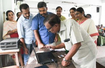 District level inaguration of Online registration for Tenth & Higher secondary courses done by District panchayath president G. Venugopal Alappuzha