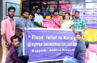 Helping hands from Kuppam Engineering colleges