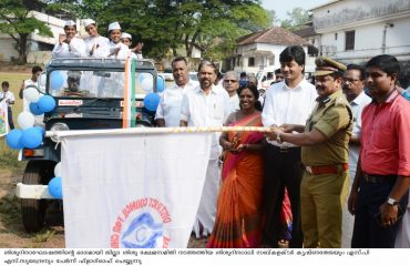 Sub Collector Krishna Teja and SP S.Surendran flagged of the Children's day Rally 2018