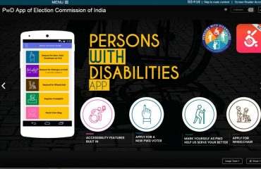 PwD App of Election Commission of India 2019