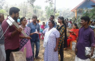 Demonstrating Voting Machine in Chengannur Ala Panchayat