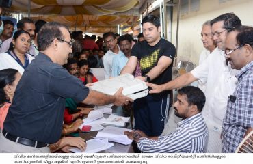 District Collector handovers ballot machines to officers