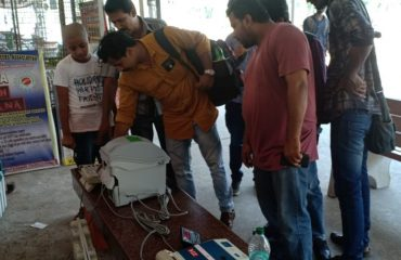 Demonstration of EVM VVPAT at Harippad Railway Station