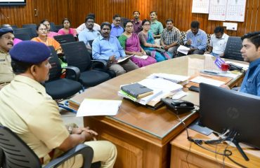 Meeting conducted to evaluate the working of web casting process at collectorate -2019