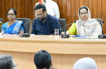 Meeting conducted at Collectorate Conference hall regarding the resistance of Infectious disease-2019