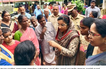 District Collector's visit to the relief camp in Arattupuzha -2019