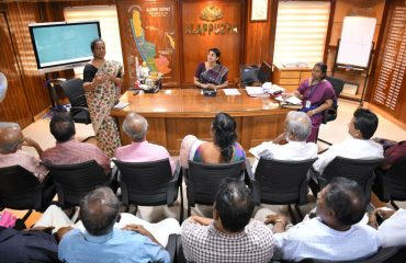 Corona awareness class conducted in District Collector's chamber 2020