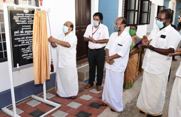 Minister G.Sudhakaran inaugurating bridge section of PWD Executive Engineers office 2020