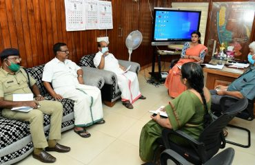 Meeting conducted in District Collector's chamber 2020